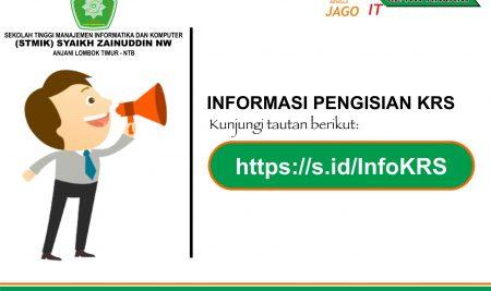 Informasi Pengisian KRS Genap 2020/2021 angkatan 2020 (diperpanjang lagi)